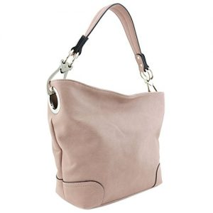 Hobo Shoulder Bag with Big Snap Hook Hardware