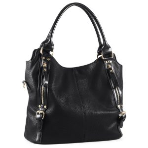 Plambag Faux Leather Hobo Handbag